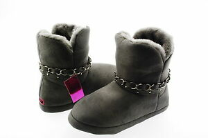 218749a244f3 Material Girl New Women s Cherish Black Fabric Slipper Bootie 11 M ...