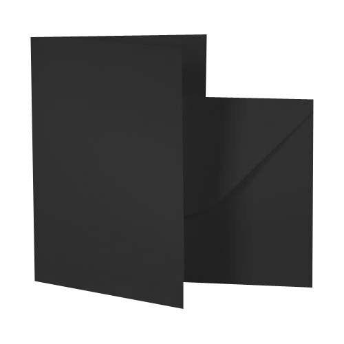 A6 Black Matte Card Blanks /& Matching Envelopes