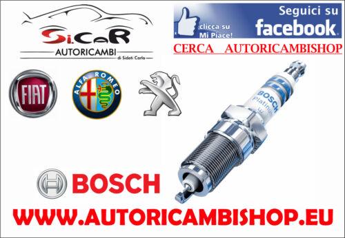 4 CANDELE ACCENSIONE BOSCH ALFA 156 FIAT PANDA PUNTO MOTORI FIRE COD 0242235666