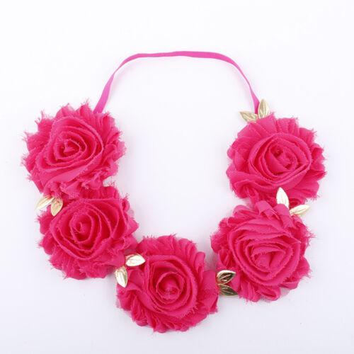 Pop Girls Wedding Crown Hair Band Fabric Lotus Flower Headband Hair Accessories