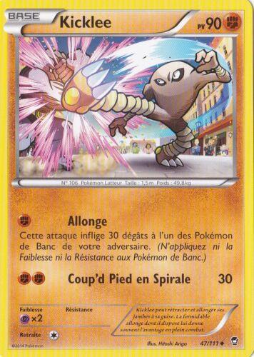 Carte Pokemon Neuve Française Kicklee 47//111 XY:Poings Furieux