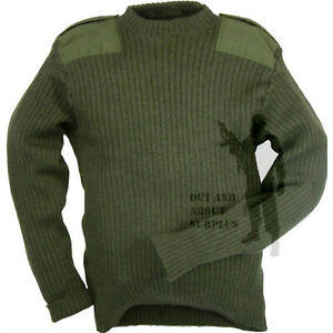 Men's Clothing Uniforms & Bdus Creative British Army Commando Jumper Sweater Surplus Pullover Military Cadet Wool Green More Discounts Surprises