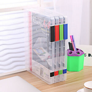 A4-Transparent-Storage-Box-Clear-Plastic-Document-Paper-Filling-Case-File-New-FO