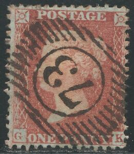 1855-Penny-Red-Spec-C3-Plate-11-GK-Perf-14-Small-Crown-Fine-Used-Good-Perfs