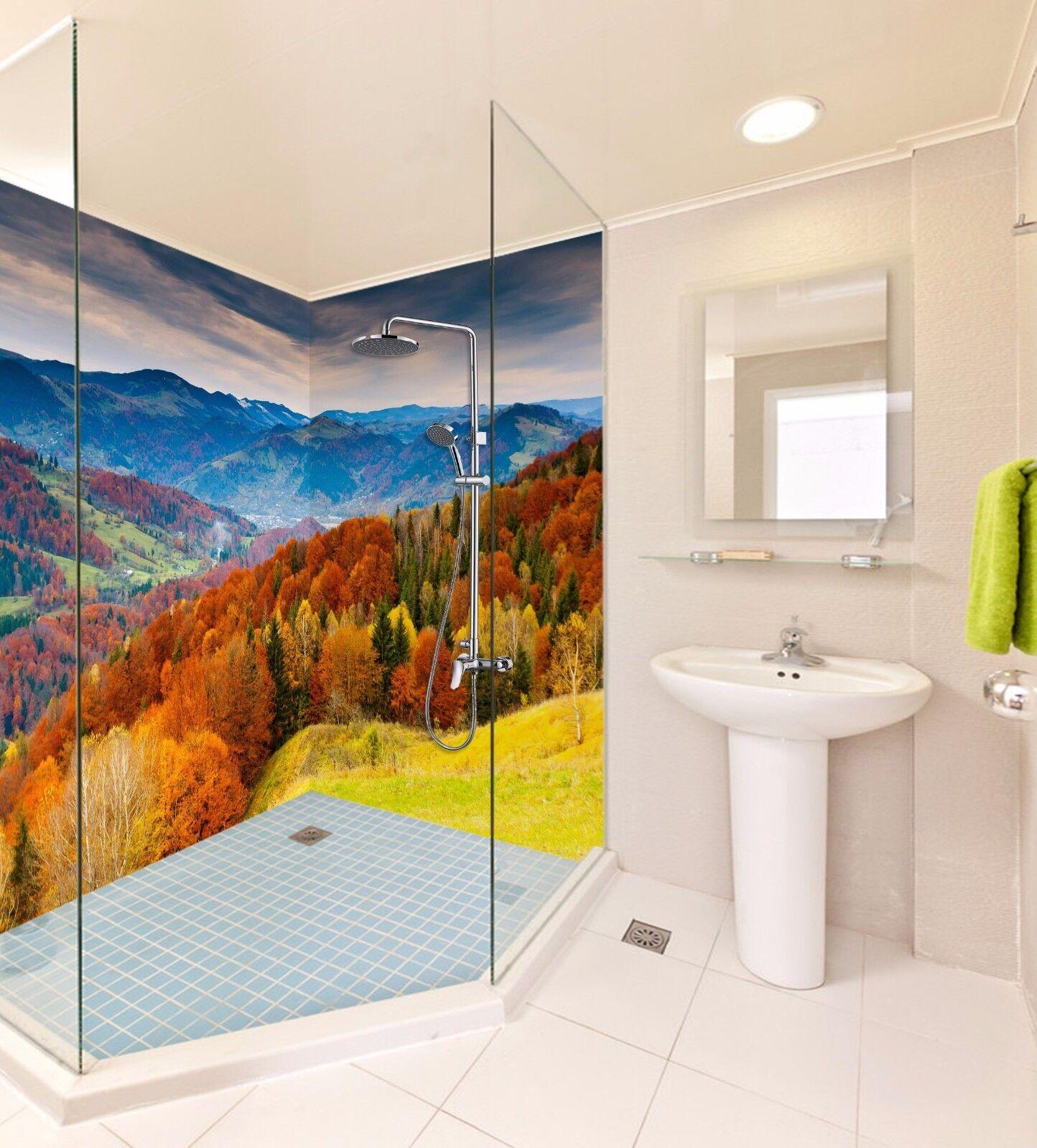 3D Sky autumn hill 536 WallPaper Bathroom Print Decal Wall Deco AJ WALLPAPER UK