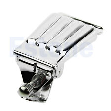 Nickel Chrome Spring Action Cover Tailpiece Replacement for 5 String Banjo Plate