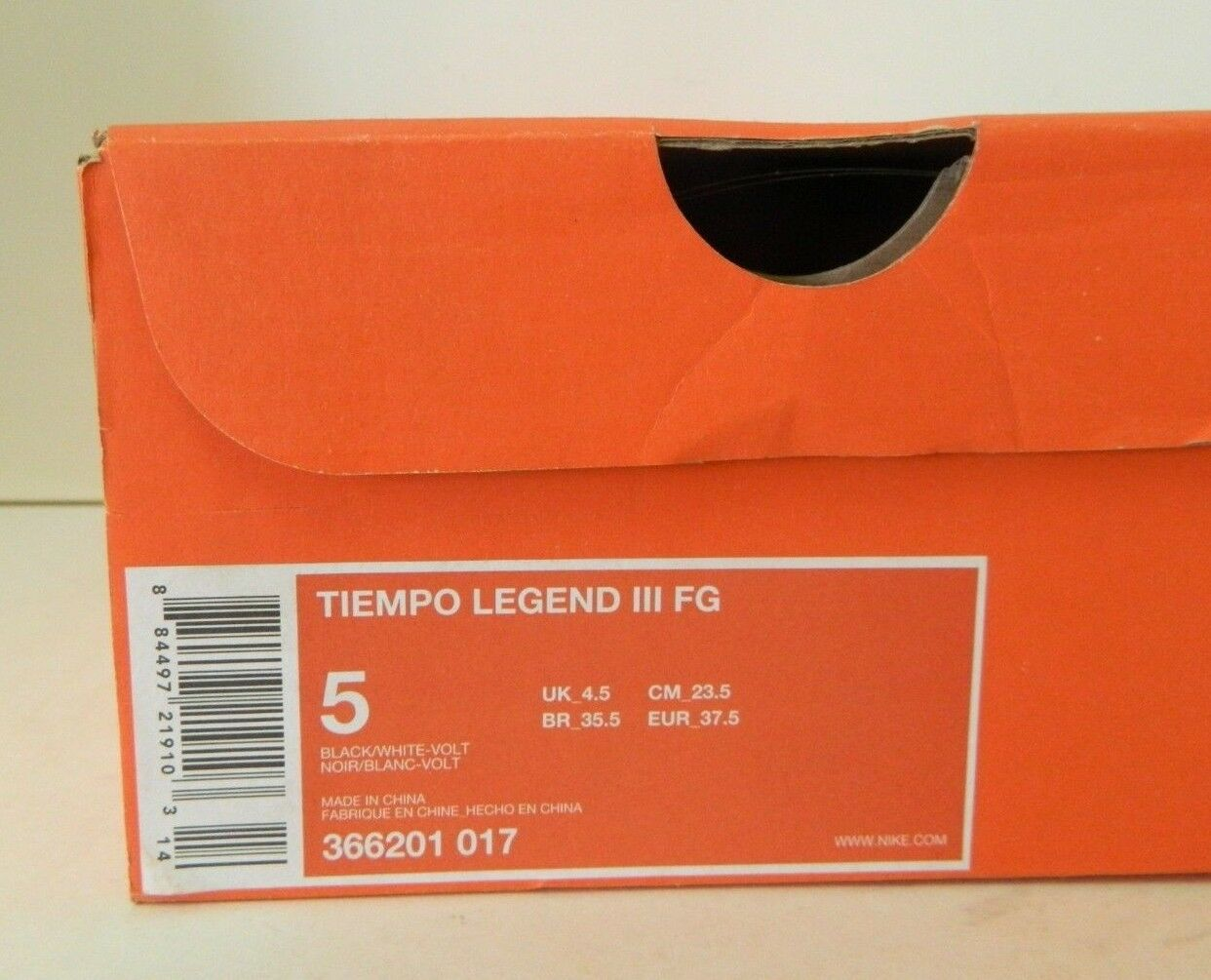1459069bd8a ... NEW Tiempo Legend III FG Soccer Cleats Men s Size Size Size 5 Black  White Green b3649f
