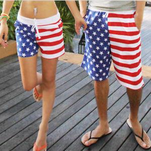 13f5aae4aa37 ROCKY TRUNKS -- Men American Flag Surf Board Shorts Bathing Swim ...