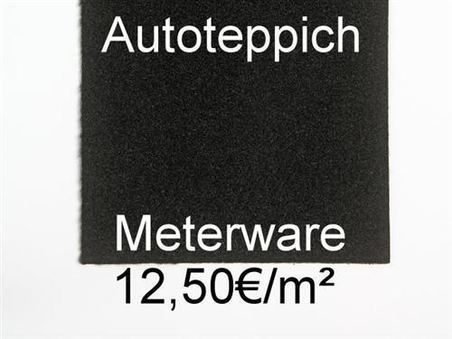 Autoteppich Meterware Teppich PKW Automobil-Qualität schwarz Innenraum