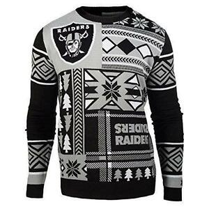 image is loading ugly christmas sweater nfl oakland raiders patches football
