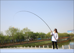 carbon fiber 3.6M 4.5M 5.4M 6.3M Spinning Fishing Rod M Power Telescopic