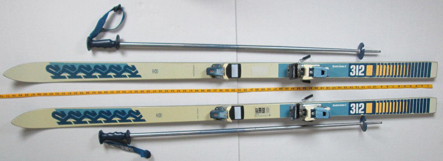 K2 Skis w  Tyrolia Bindings and Poles 312 Stretch Series C 180cm 71  Downhill S