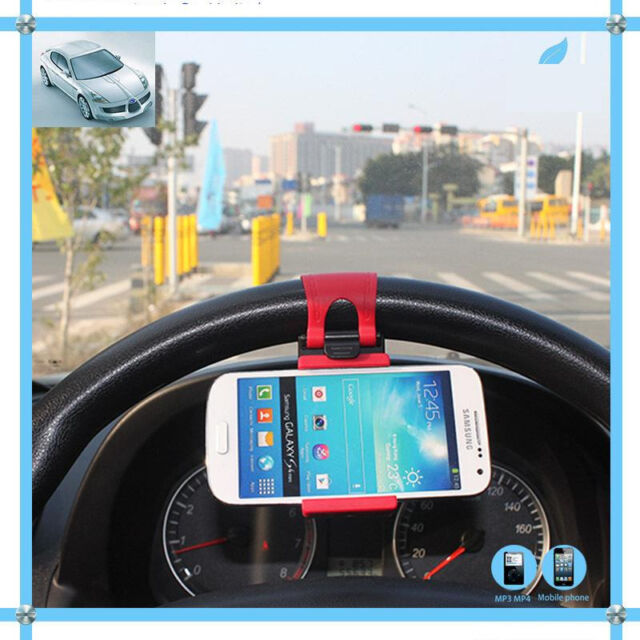 Universal Car Steering Wheel Mount Holder For iPhone iPod Smart Phone MP4 new FM