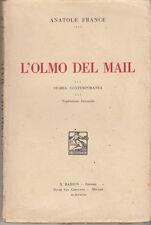 LETTERATURA FRANCESE FRANCE L'OLMO DEL MAIL STORIA CONTEMPORANEA 1928 BARION