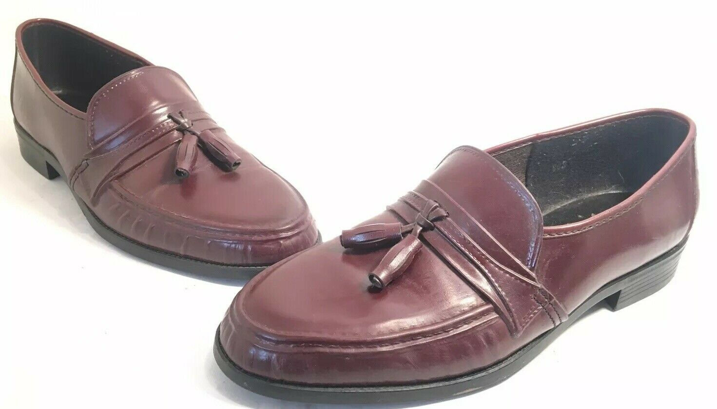 Vintage 70's 70's 70's 80s USA Made CHARTERHOUSE braun Loafers Canvas Rubber Lo Top 8.5 dcd148