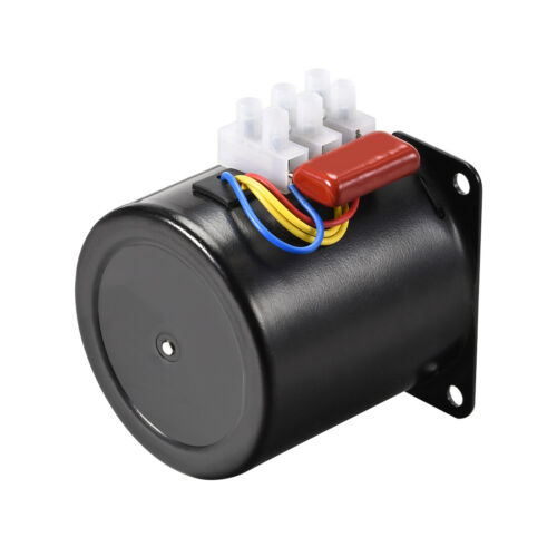 Details about  /AC220V Synchronous Motor Metal CW//CCW 5RPM 14W 7mm Dia Central Shaft with Hole