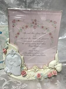 Details About Precious Moments Wedding Invitation Holder Photo Frame Forever True 135720