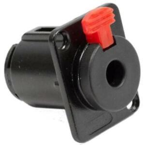 New-PROCRAFT-PC-TJ084A-1-4-034-6-35-mm-TRS-Panel-Mount-Locking-Speaker-Jack-Black
