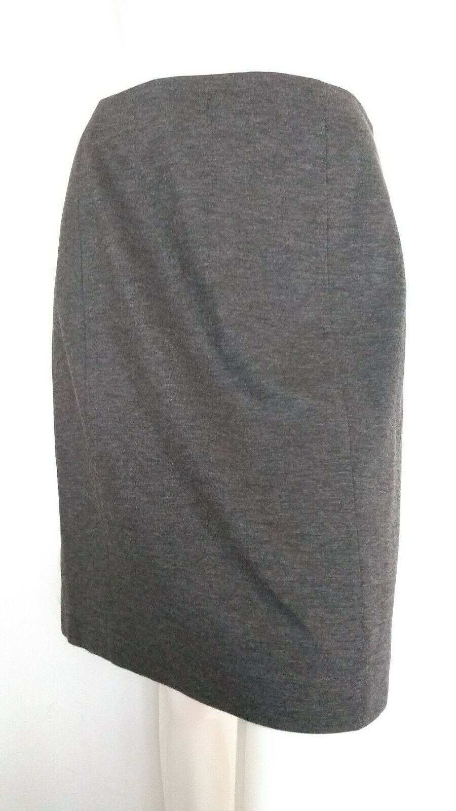 NW3 by HOBBS soft ponte pencil skirt size 12 --BRAND NEW-- grey fully lined