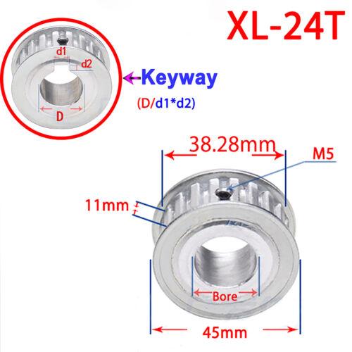 XL Zahnrad Riemenscheibe 11mm 15-40 Zähne Mit Keilnut Für 3D Drucker CNC Fräse