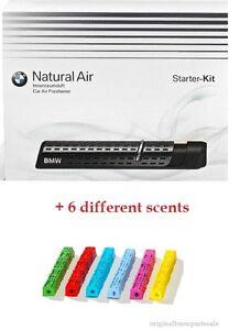 genuine bmw natural air car freshener starter kit + 6 different scents!