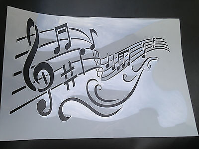 painting stencil Music Wave for decoration DIY projects