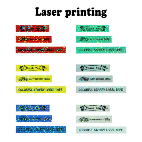TZ TZe Colorful Starry Glitter Rainbow Bling Laser Label Tape for Brother