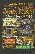 2016 Mooneyes X-Mas Party Show & Drag Rat Fink Irwindale postcard