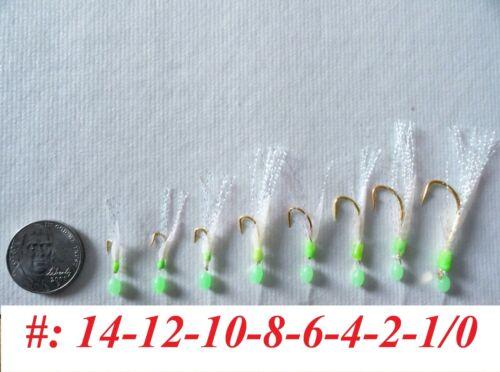 10 Packs Size 4 sabiki bait rigs 6 hooks off-shore saltwater fishing lures 467