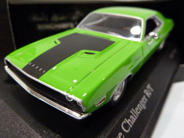 Very Rare Minichamps Dodge Challenger R T 1970 Green 1 43 400144700