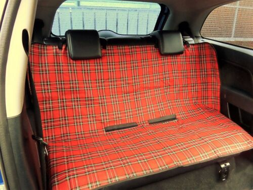 Protective Dog//Pet Cover Blanket For Rear Car Seat PLAID RED SCOTISH TARTAN