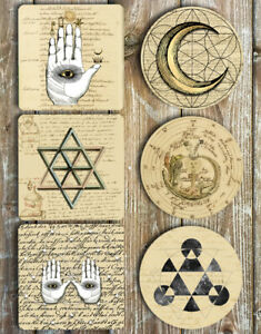 Alchemist-Drink-Coasters-Set-Of-6-Non-Slip-Neoprene-Choose-Your-Set