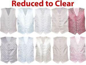 Mens-Waistcoat-Business-Tops-Suit-Vest-Wedding-Formal-Casual-Print-Coat