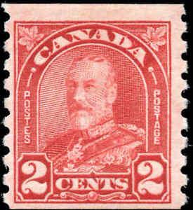 Canada Mint H F 2c Scott #181 1930 King George V Arch/Leaf Coil Stamp