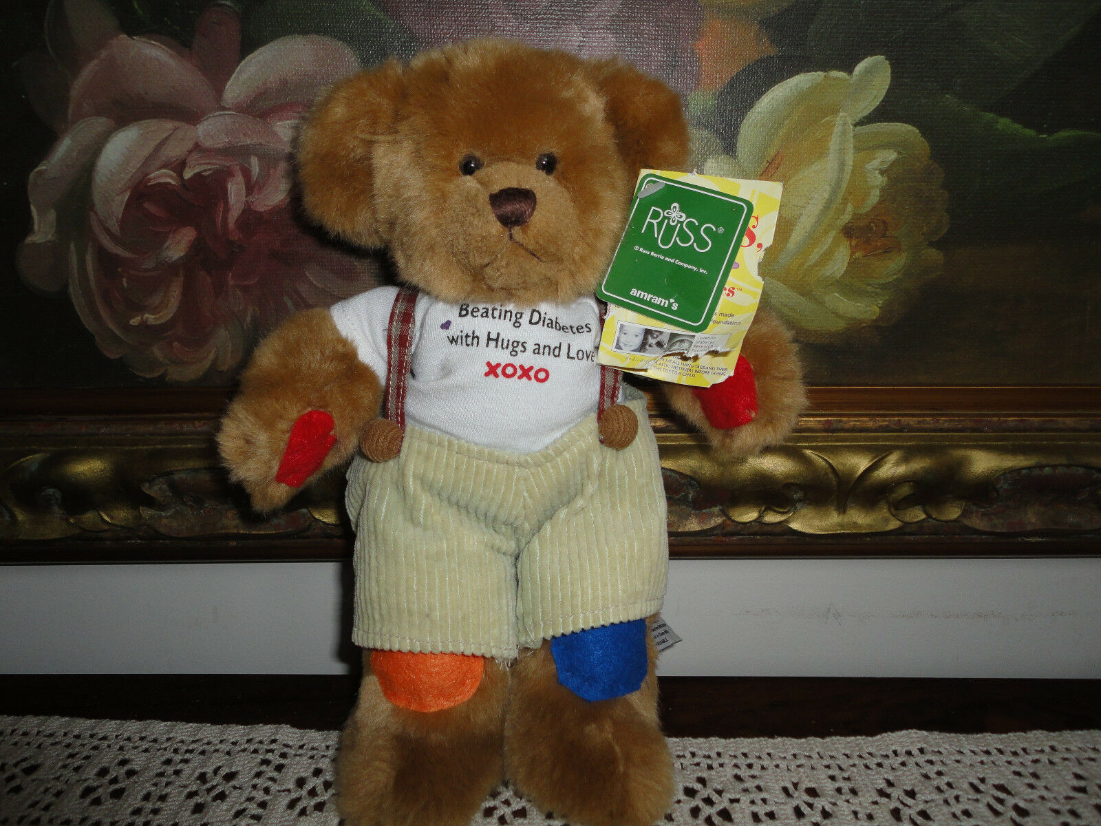 Russ Berrie Rufus Bear Juvenile Diabetes 24026 Carol Cramer