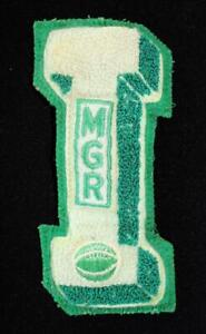 VINTAGE-1960-039-S-1970-039-S-SCHOOL-LETTER-GREEN-AND-WHITE-PATCH-3-1-2-034-X-5-1-2-034