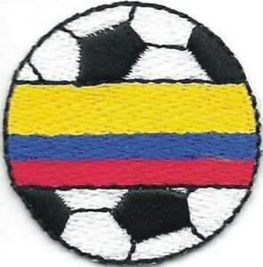"""1 3/8"""" Soccer Football Colombia Fútbol Bandera Flag Embroidery Patch"""