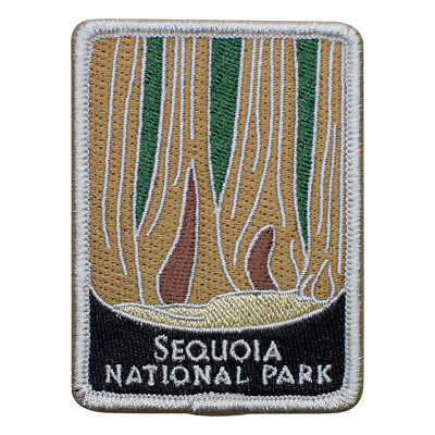 Redwood Trees California Badge 3 Iron on Sequoia National Park Patch