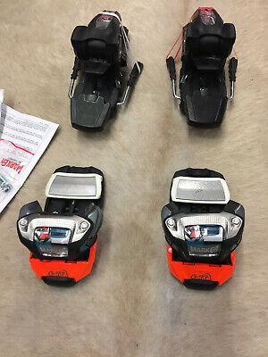 Hart Arbeitend Skibindung Marker Lord Sp 14 Black/white/teal Neu