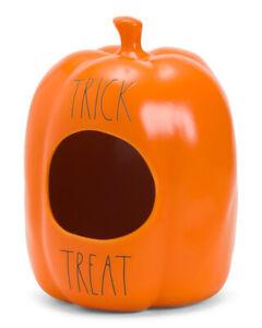 Rae-Dunn-Ceramic-TRICK-or-TREAT-Halloween-Candy-Decor-Pumpkin-HTF-2020-Release