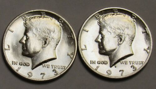 1973 P/&D Kennedy Half Dollars in BU Condition