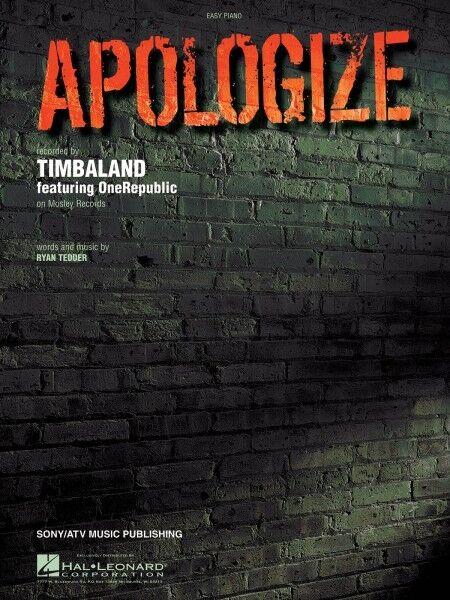 Apologize Song By Onerepublic Easy Piano Pop Sheet Music Lyrics