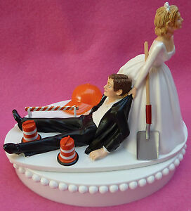 wedding cake construction wedding cake topper construction worker road crew highway 22224