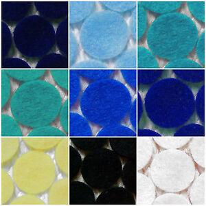 Circles-Felt-Die-Cuts-Crafts-Cardmaking-etc-BLUES-Choose-the-sizes