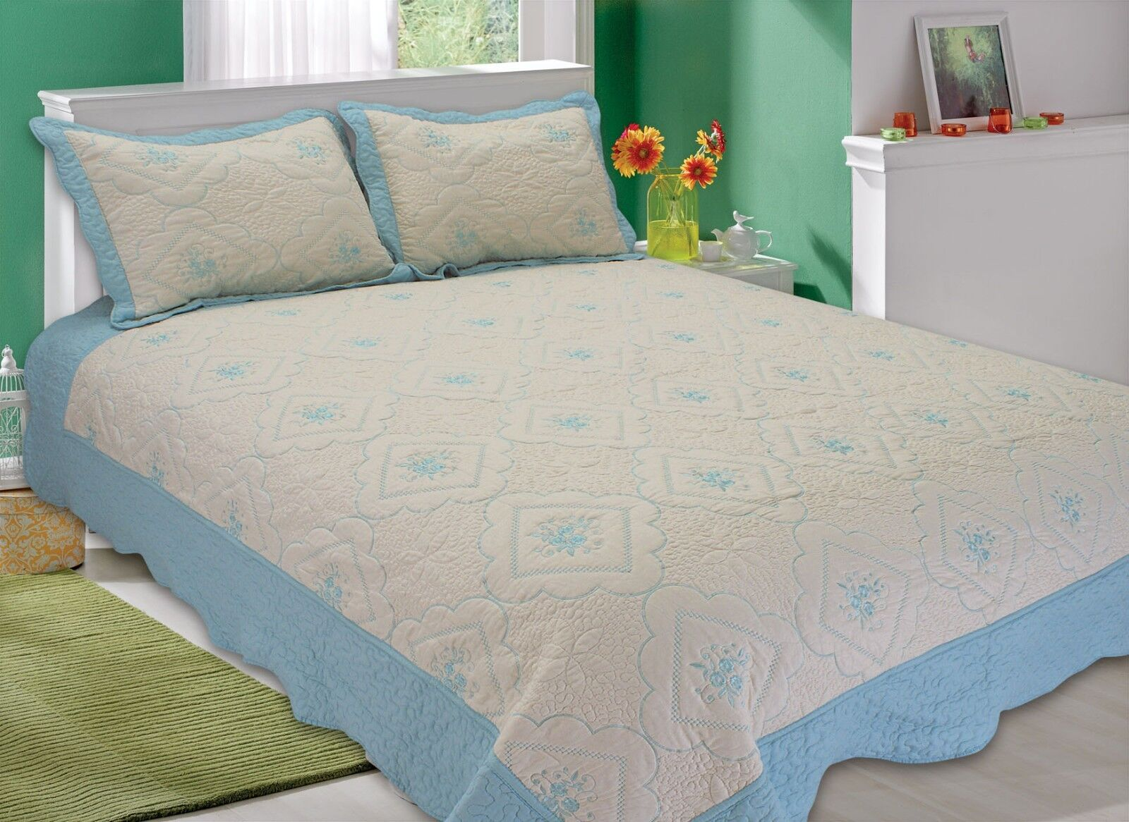 All for you-quilt set bedspread-coverlet-queen full king-embrodery