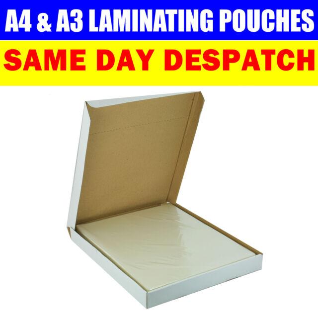 A3 A4 LAMINATING POUCHES 150 MICRON LAMINATOR MACHINE POUCHES SHEETS