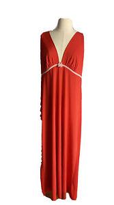 Leona By Leona Edmiston Women's Christmas Red Slip dress Strappy Sleeves Size L