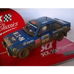 Slot-Car-Scalextric-SCX-6356-Ford-Escort-MKII-Mikkola-Herts-Efecto-barro-Dirty