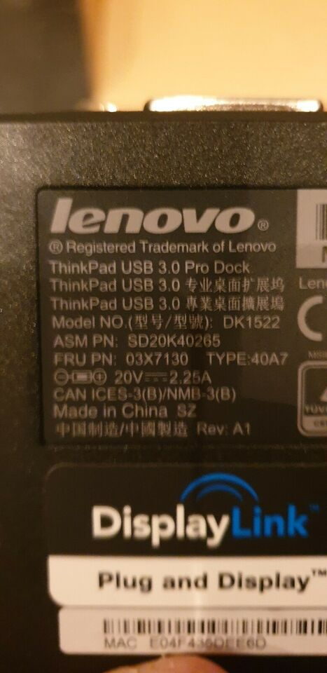 Dockingstation, LENOVO, Perfekt
