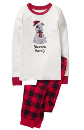 Gymboree NWT Boys Holiday Dog Snooze Hound Christmas Pjs Plaid Size 3